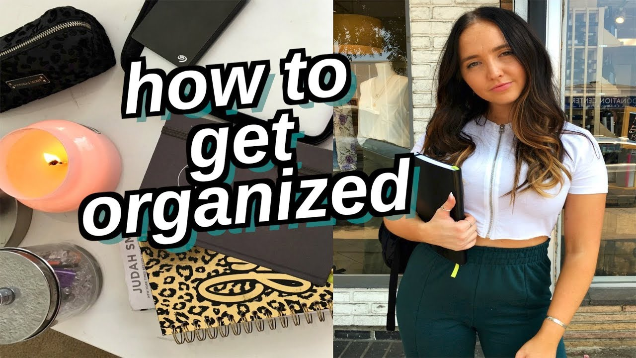 how to stay organized for the school year   how to be productive