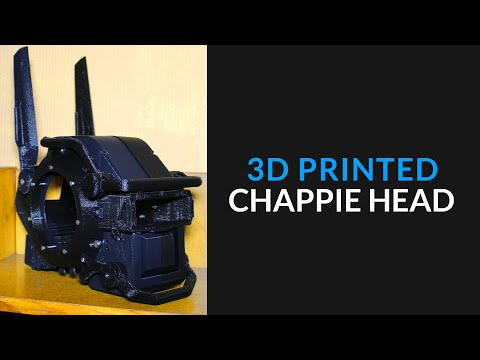 Chappie 3D Printed Head - Part 1 - YouTube