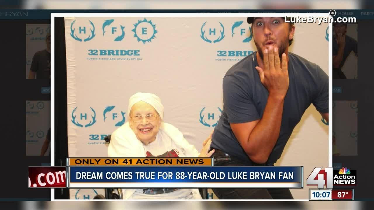 Metro woman battling terminal illness meets Luke Bryan