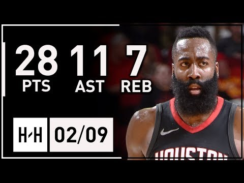James Harden MVP Full Highlights Rockets vs Nuggets (2018.02.09) - 28 Pts, 11 Ast, 7 Reb in 3 Qtrs!