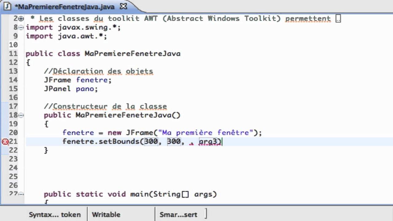 Apprendre java interface graphique ma premi re fen tre for Fenetre java