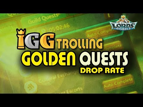 Lords Mobile - The Golden Guild Quests Drop Rate Troll !!