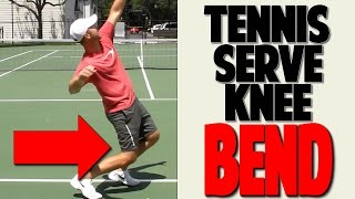 tennis serve lesson proper knee bend for power top speed tennis