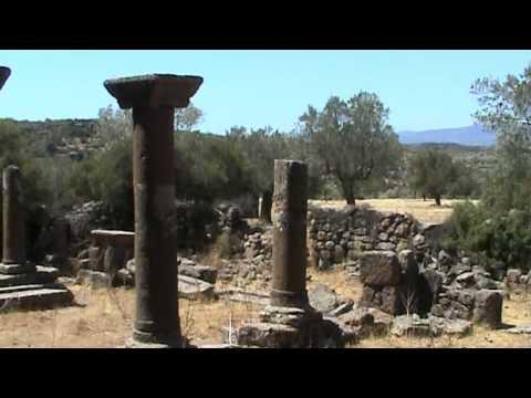 Lesbos 2011 - východ ostrova a nejvyšší hora Lepetymnos