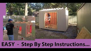 Building a shed. FAST EASY Door openings!