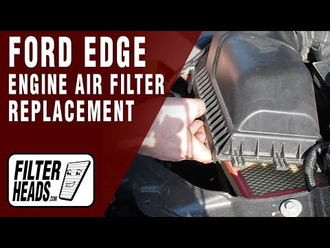 How To Replace Engine Air Filter   Ford Edge Vl