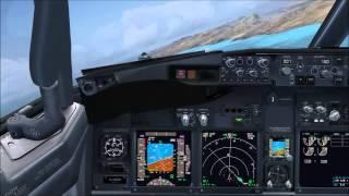 manual flight scenic visual approach into fuerteventura