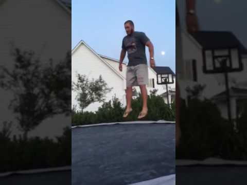 Coach David Avery on trampoline