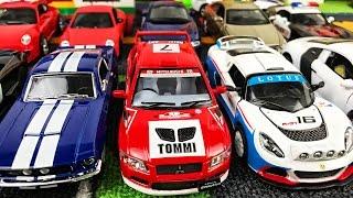 Гоночные машинки и полицейская коллекция - Play Car toy videos for kids