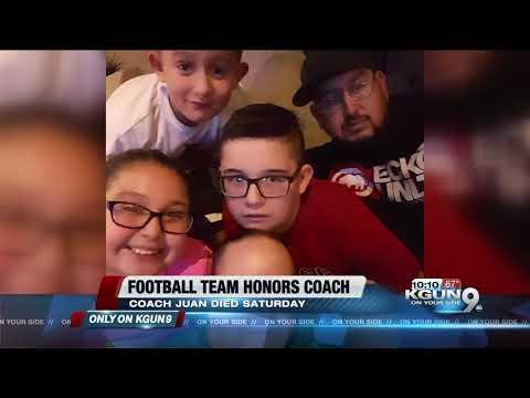 Sahuarita youth football team coach suddenly dies