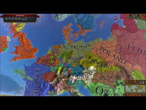 Europa Universalis IV Timelapse - Brandenburg/Prussia/Germany/Revolutionary Germany
