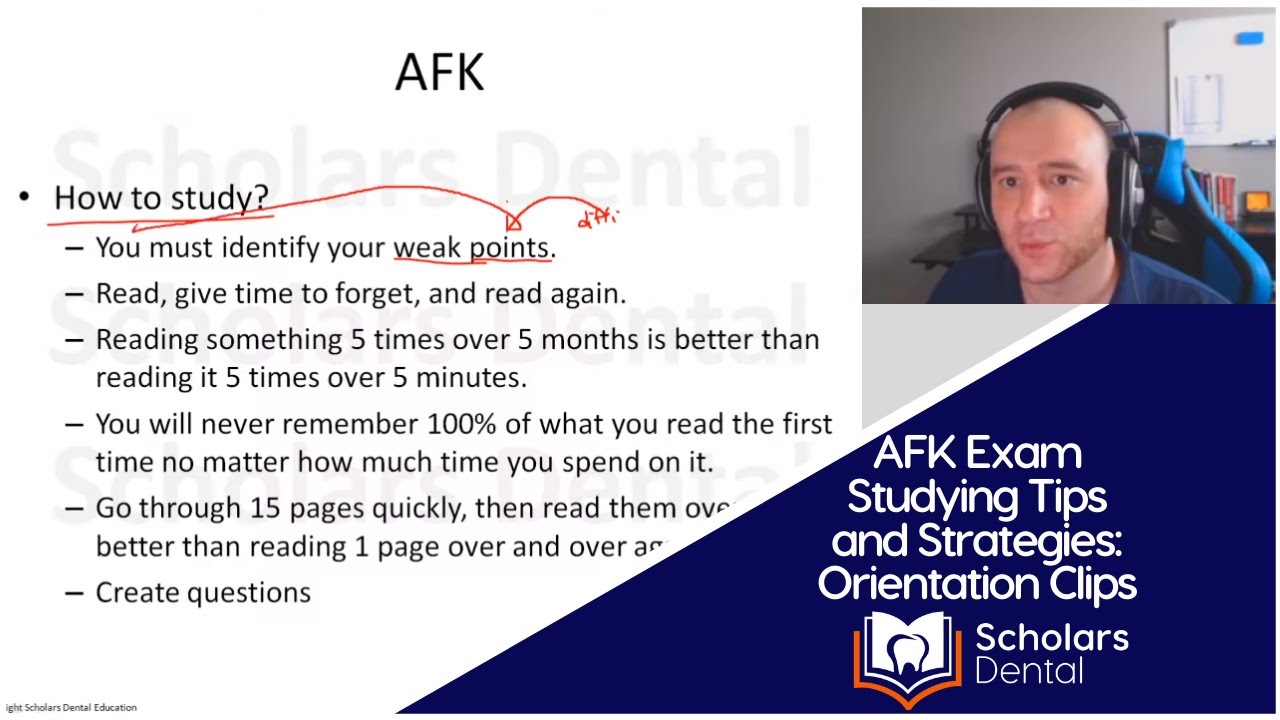 AFK Exam Studying Tips and Strategies : AFK Orientation Clips | NDEB Process