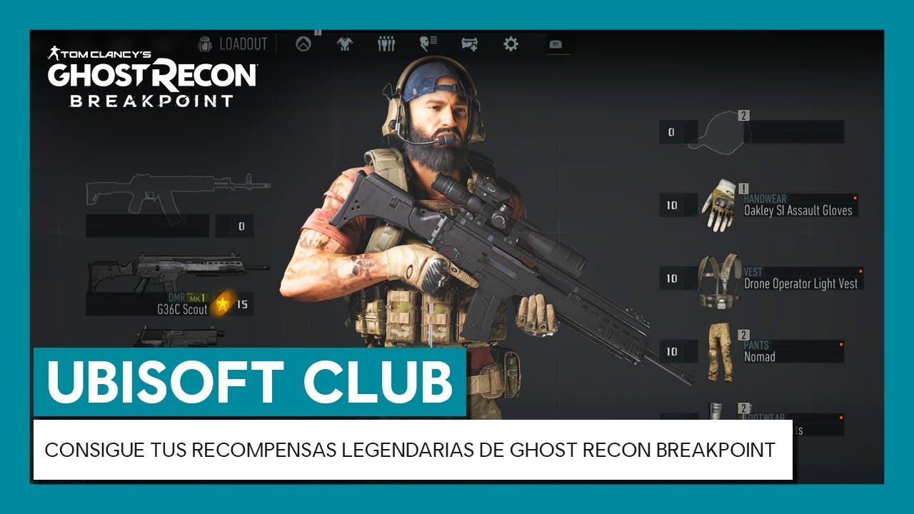 UBISOFT CLUB: CONSIGUE TUS RECOMPENSAS LEGENDARIAS DE GHOST RECON BREAKPOINT