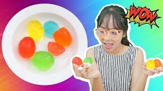 Làm Thạch Rau Câu Màu Sắc Trong Quả Trứng Gà Cùng Chị Bánh Quy | Kem Cam TV