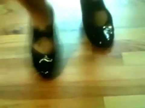 245b63f64aa2 Woman In Her Black Shiny Patent Leather Tap Shoes - YouTube