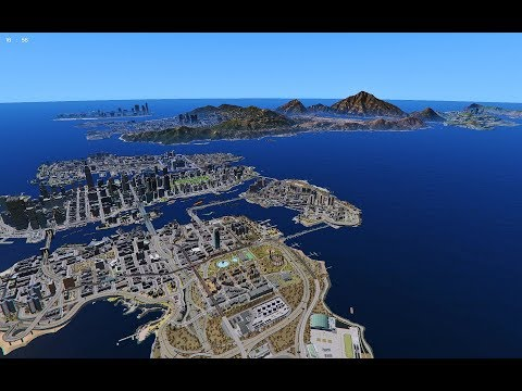GTA 5  - Mega Map Expansion (LS, Liberty City, Vice City And SanAndreas)