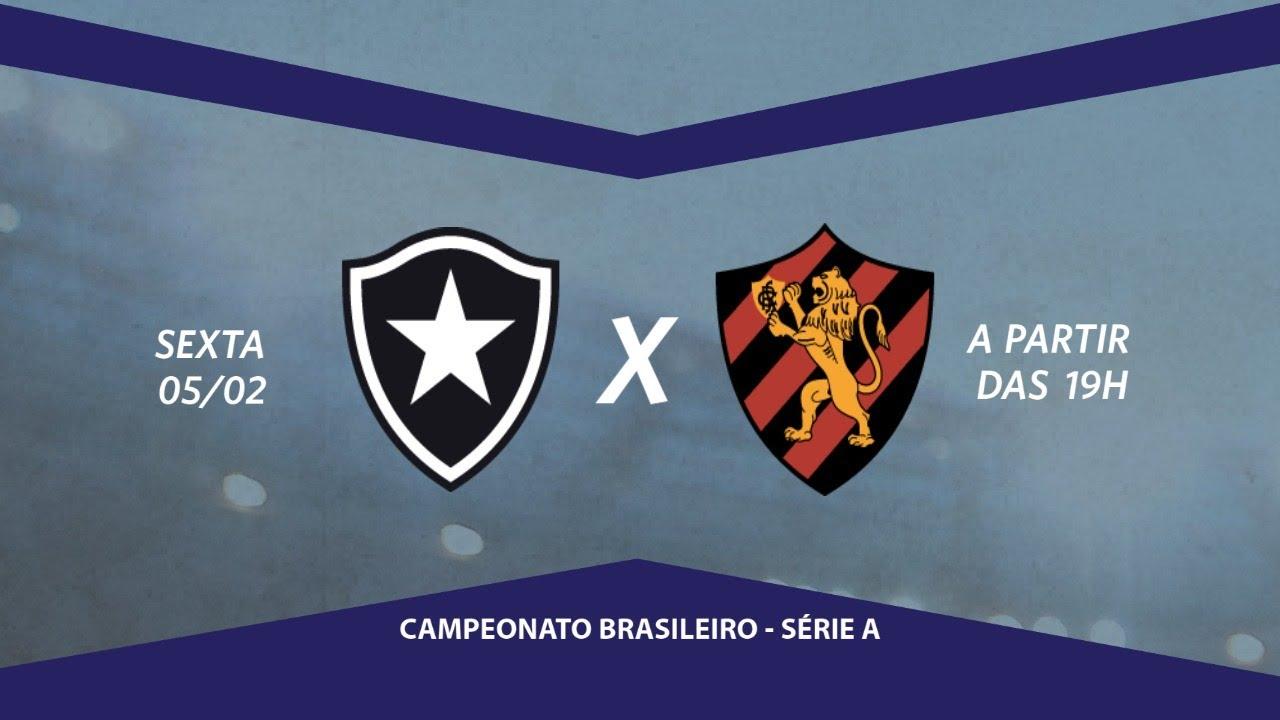 Botafogo x Sport, ao vivo, pela Série A com Escrete de Ouro da Rádio Jornal