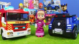 Unboxing Paw Patrol, Playmobil, Feuerwehrmann Sam & Masha und der Bär deutsch für Kinder