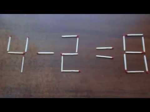 Головоломки со спичками задачи со спичками с ответами
