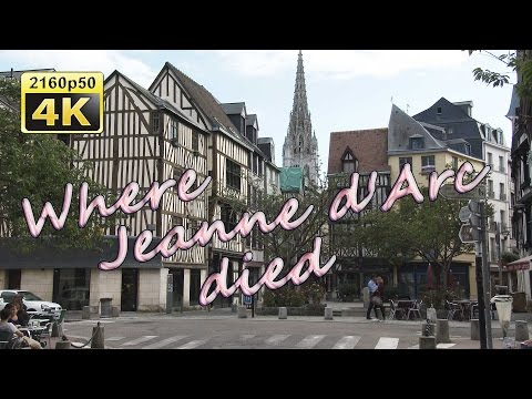 Rouen, a walk through the historic center - France 4K Travel Channel