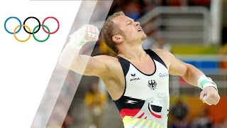 Germany's Hambuechen wins gold in horizontal bar