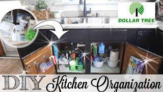 Dollar Tree Kitchen Organization | Storage on a Budget