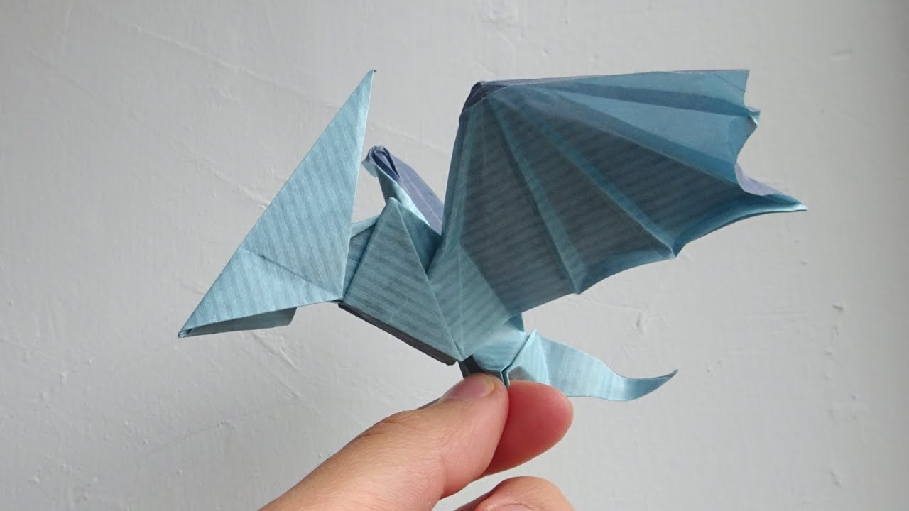 Origami Dinosaur Pterosaur Anh Dao Diagram Youtube Here Is The Folding For Shuriken This Came