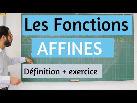 Les Fonctions AFFINES