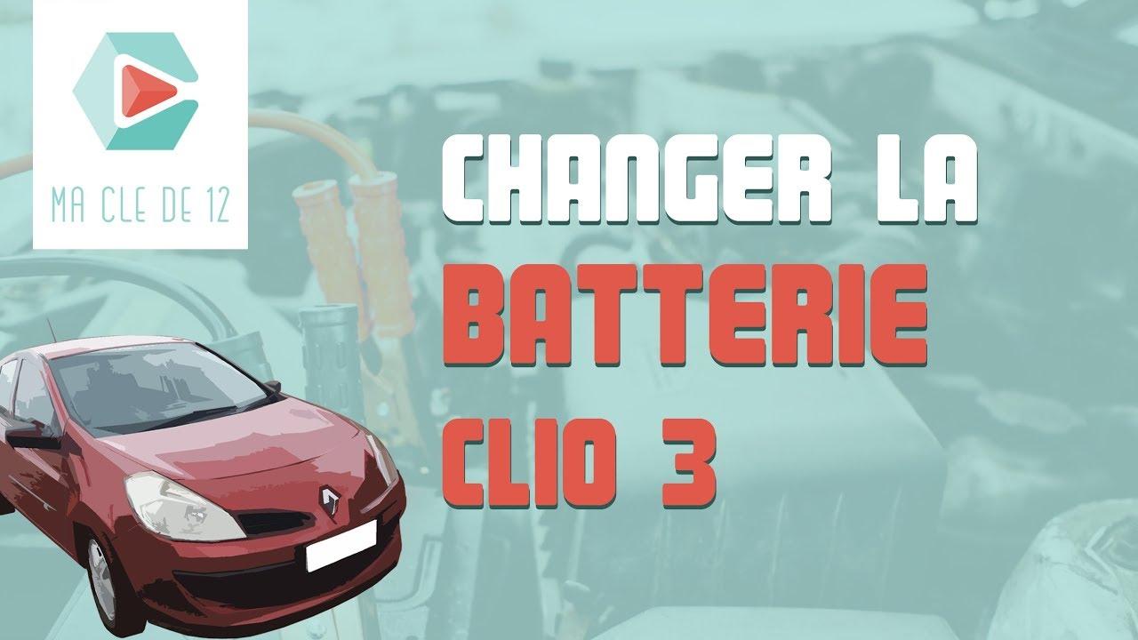 tuto renault clio 3 essence changer la batterie youtube. Black Bedroom Furniture Sets. Home Design Ideas