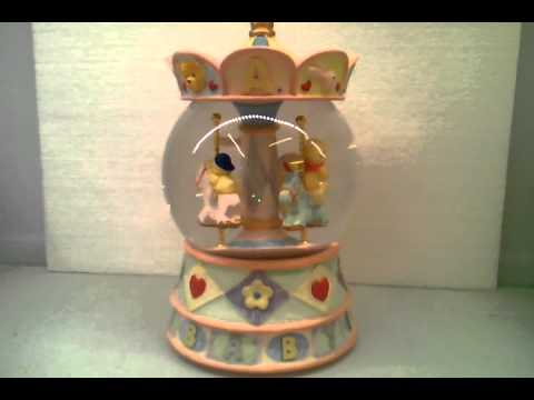 Deluxe Baby-daily Carousel Snow Globe Resin Vintage Court Base 10.3 inch