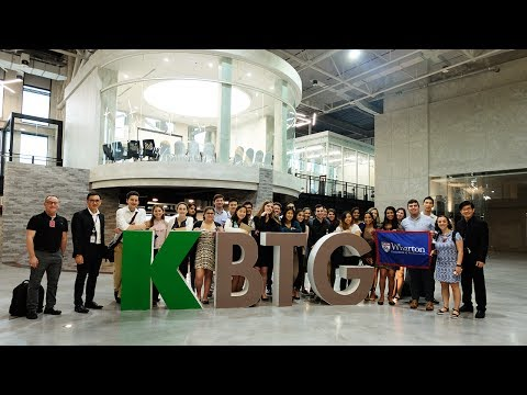 Welcome Lecturers and students from the Wharton School, University of Pennsylvania, USA Visit KBTG