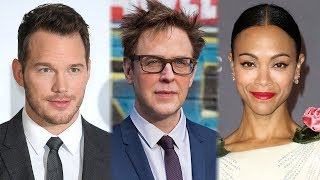Chris Pratt & Zoe Saldana REACT To Guardians of the Galaxy Director FIRING