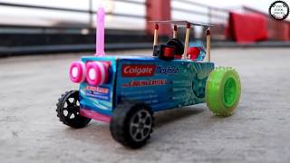 How To Make Colgate Box Tractor Electric Tractor - Electric Colgate Tractor - DIY Toy Tractor