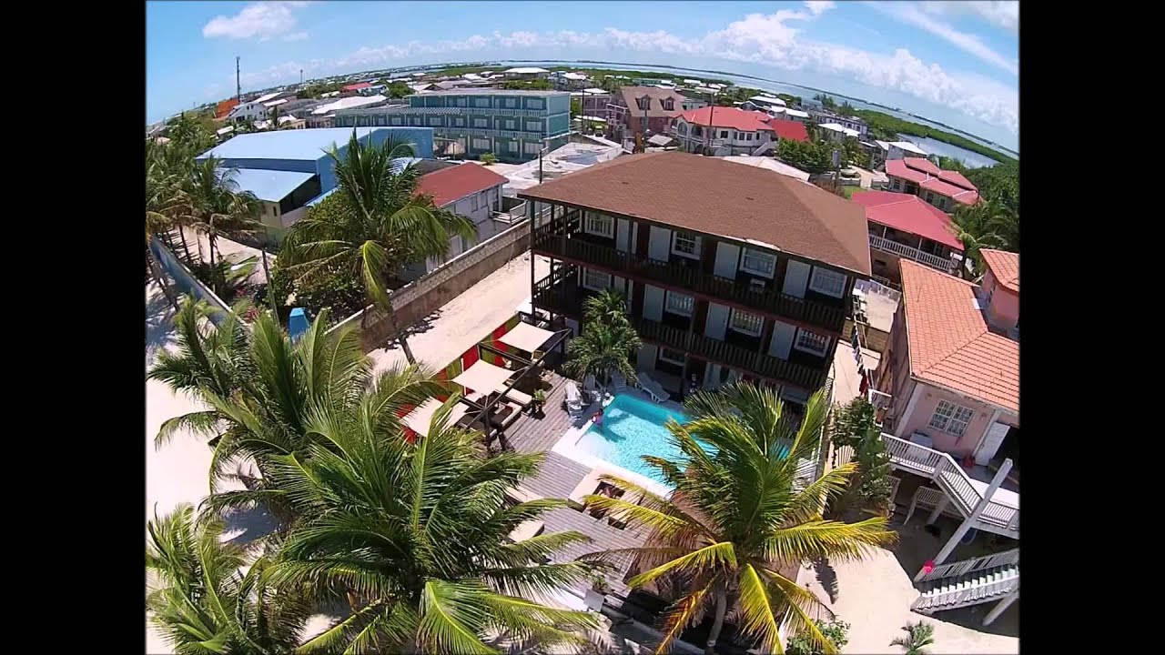 Aerial View Of Ocean Tide Beach Resort Belize