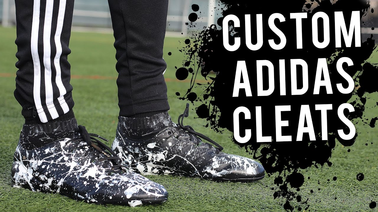 119208f27a50 CUSTOMS ADIDAS FOOTBALL BOOTS CLEATS - YouTube