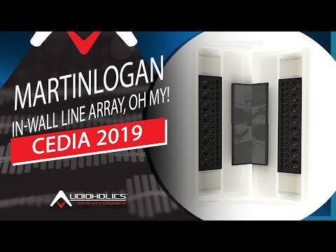 MartinLogan Statement 40XW In-Wall Line Array Speakers Rock CEDIA 2019
