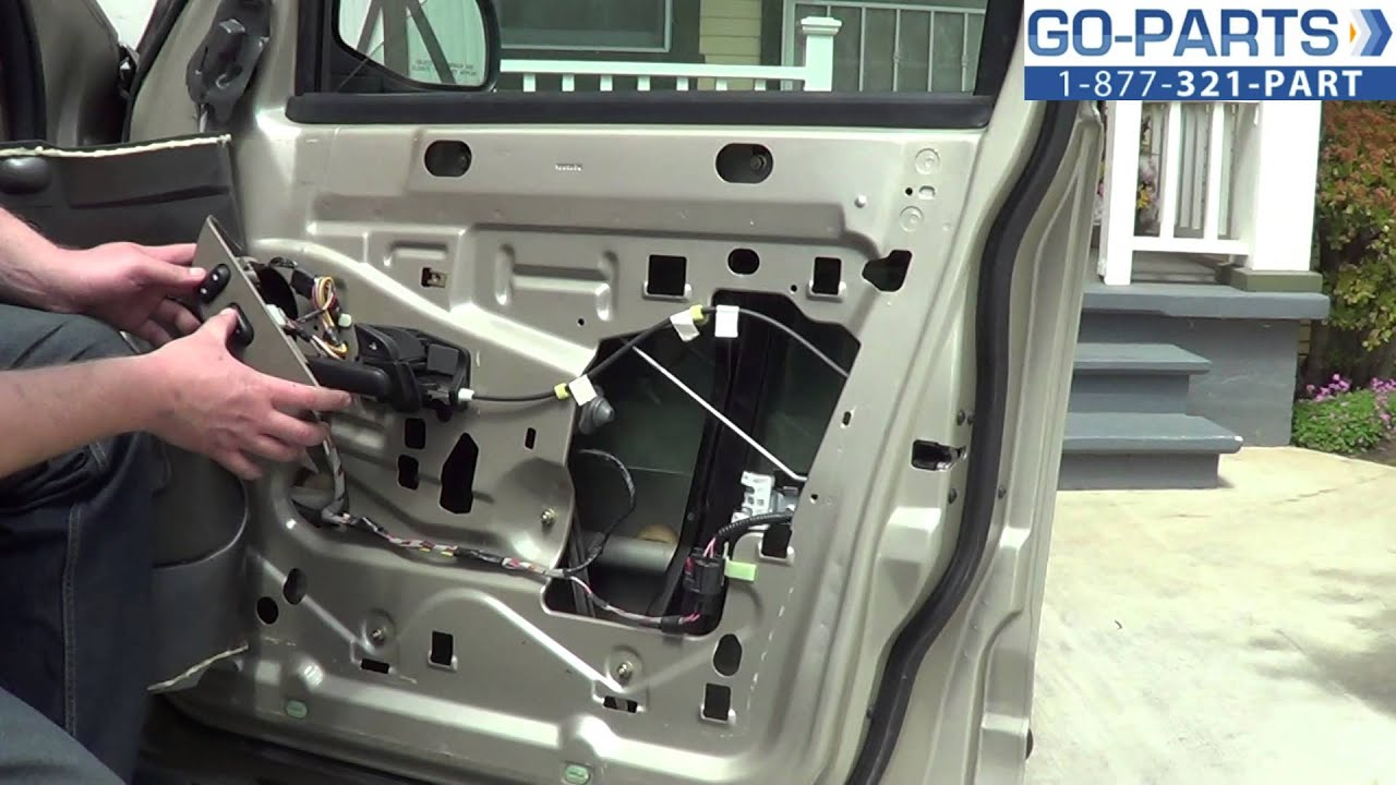 Replace 20012005 Ford Explorer Front Power Window Regulator How to