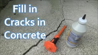 How to Fill in Cracks in Concrete