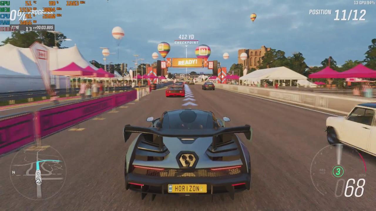 Forza Horizon 4 demo PC at 1080p with the Nvidia GT 1030 - 2GB GDDR5 &  intel Q8400