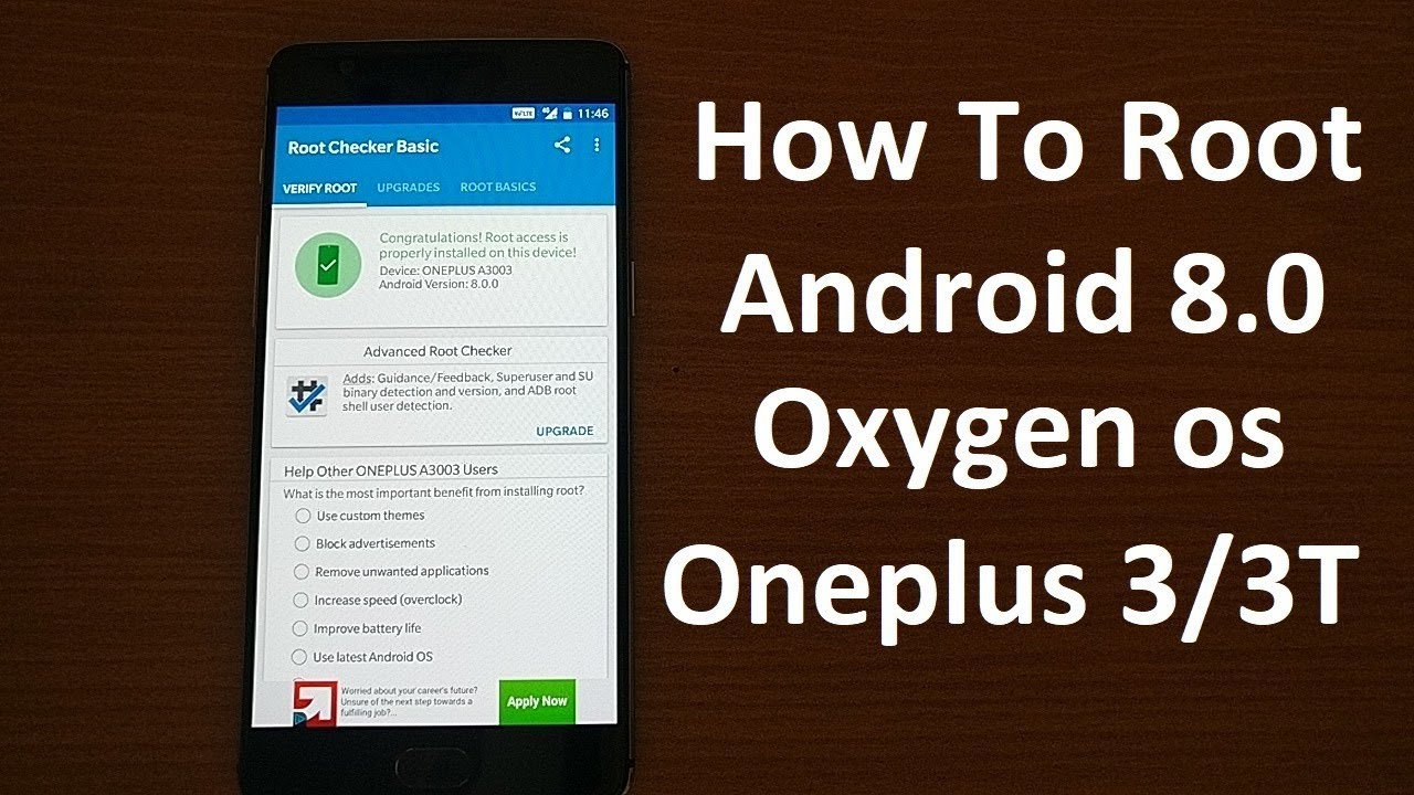 Rooting OXYGEN OS Android Oreo 8 0 Oneplus 3/3T!!!!!!