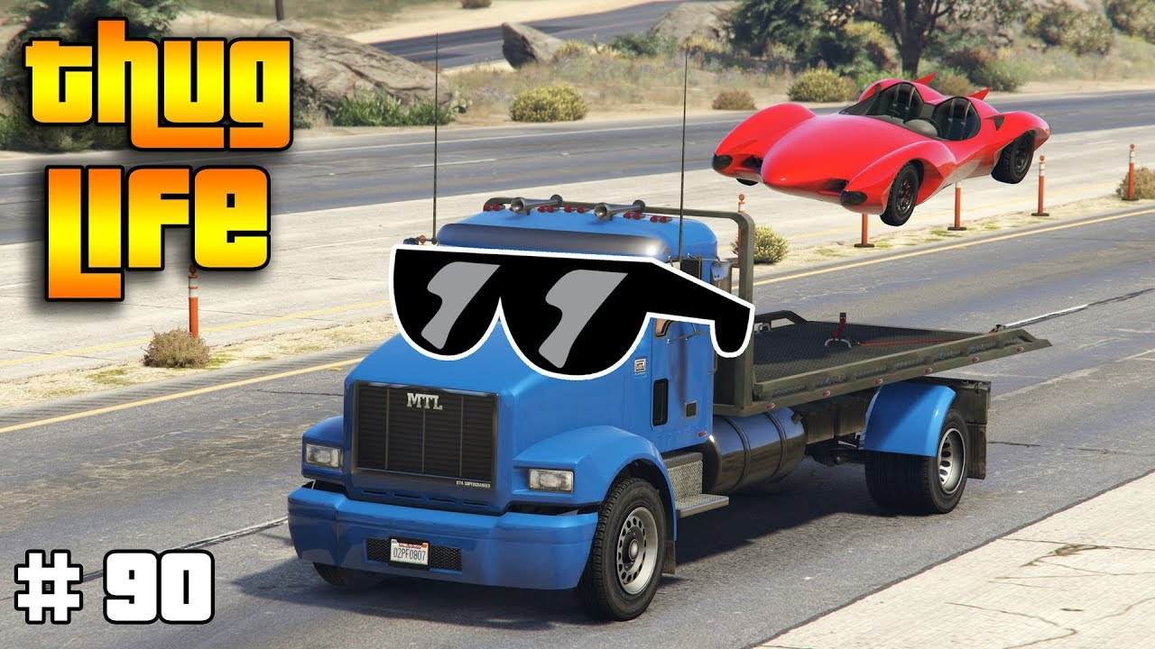 GTA 5 ONLINE : THUG LIFE AND FUNNY MOMENTS (WINS, STUNTS AND FAILS #90)