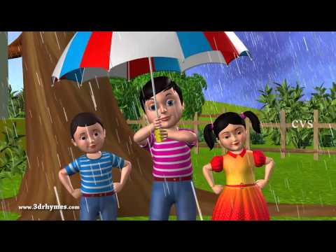 Rain rain go away - 3D Animation English Nursery rhyme for children