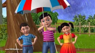 Rain rain go away - 3D Animation English Nursery rhyme for children