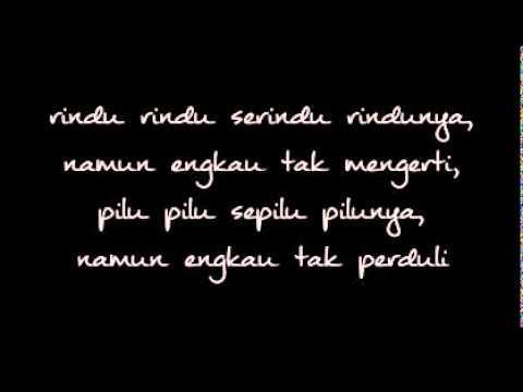 Firman Rindu Serindu Rindunya with lyrics