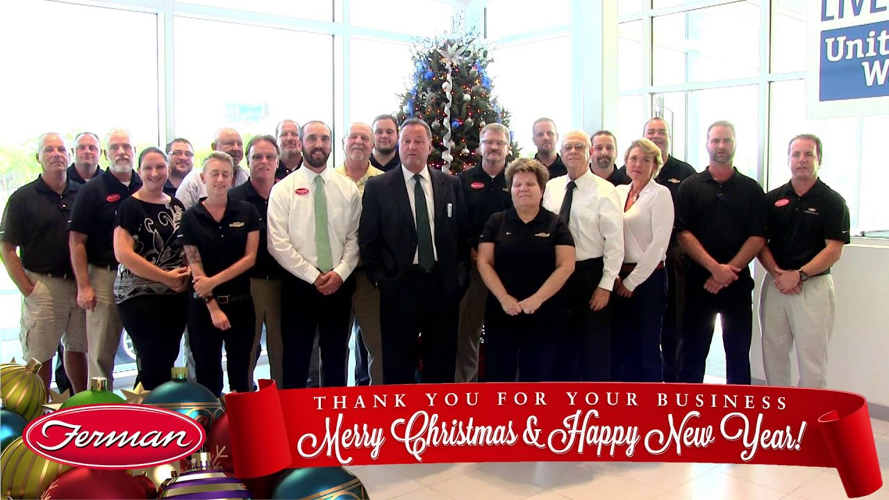 Ferman Chevy Of Tarpon Springs Christmas Greeting | Chevy Holiday Savings  Available