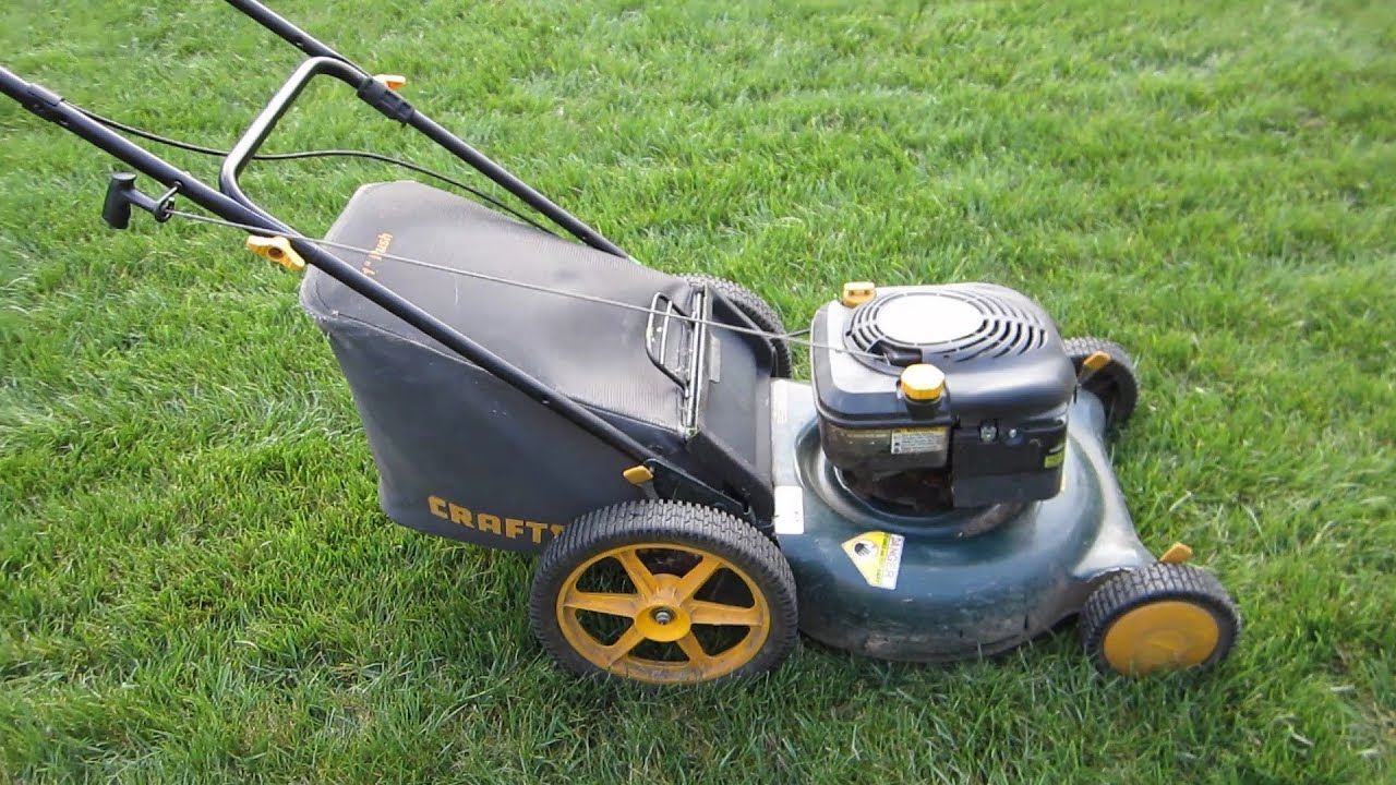 Sears Craftsman 21 U0026quot  High Wheel Lawn Mower Craigslist Find