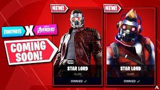 NEW AVENGERS STAR LORD SKIN CONFIRMED on Fortnite...