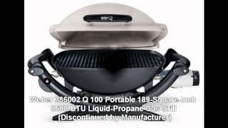 Weber 386002 Q 100 Portable 189-square-inch 8500-btu Liquid-propane Gas Grill