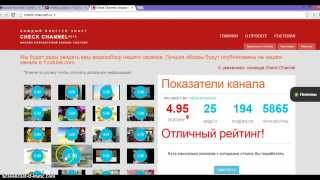 Оценка стоимости канала ютуб - Анализ сайта