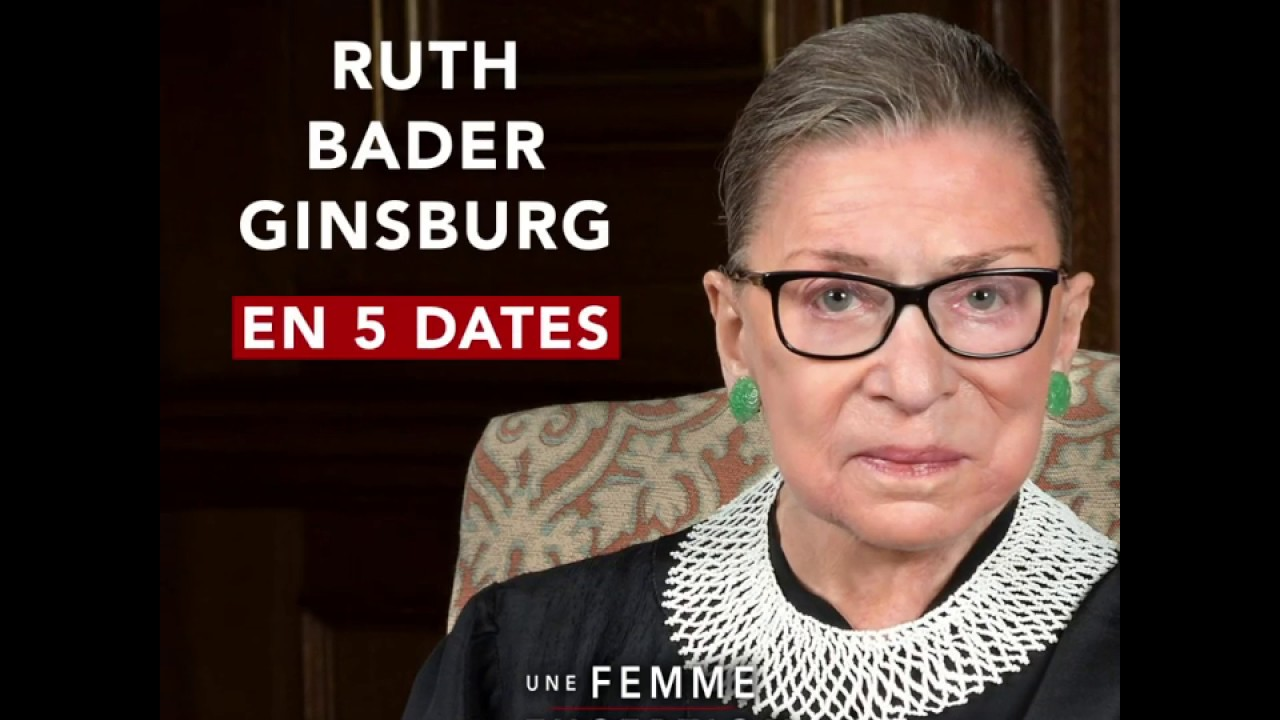 Une femme d'exception - Ruth Bader Ginsburg en 5 dates